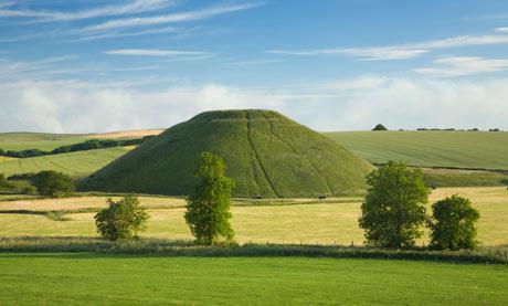 Silbury Hill near Avebury, Wiltshire